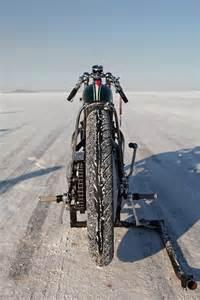 Vintage Salt Flats Motorcycle