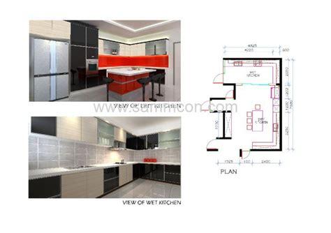 wet kitchen dry kitchen island counter interior