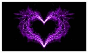 Purple Flaming Heart - The Spirit Guides Network