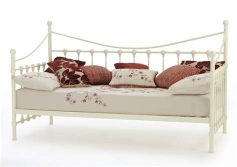 Day Bed Frame by Serene Marseilles 3ft Single Ivory Metal Day Bed Frame