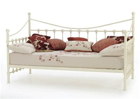 serene marseilles 3ft single ivory metal day bed frame