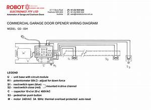 Commercial Garage Door Opener Model Gd-03h