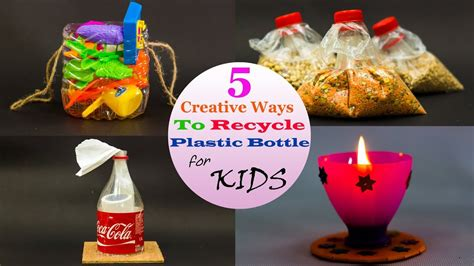 creative ways  recycle plastic bottles  kids youtube