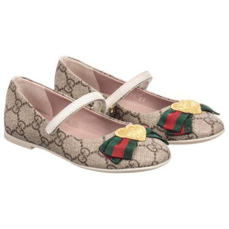 Supreme Shoes by Gucci Beige Gg Supreme Shoes Childrensalon