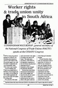 Worker rights and trade union unity in South Africa ...