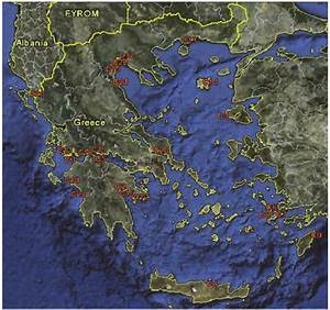 Map Of Greece Displaying The 27 Case Studies  Google Earth
