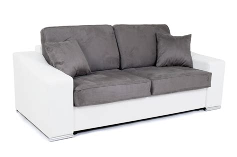 canapé convertible couchage 160 canape convertible couchage 160 cm onda wilma blanc micro 21