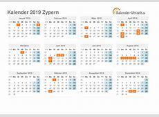 Feiertage 2019 Zypern Kalender & Übersicht
