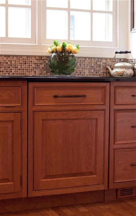 brownnilon dishwasher panel traditional kitchen dc