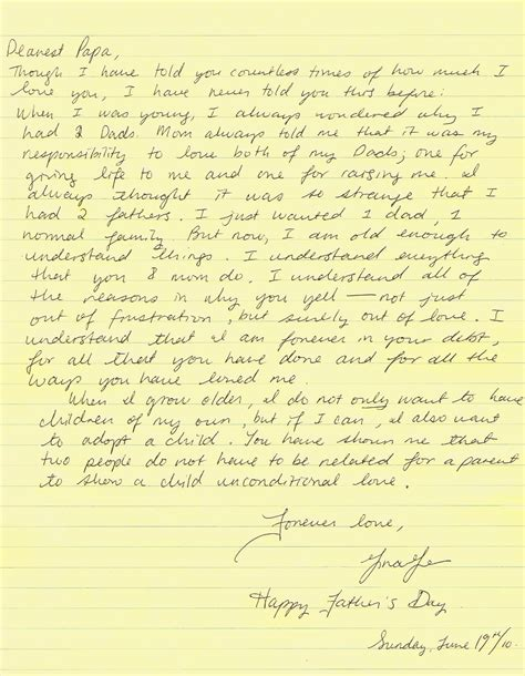 father  stepdaughter love letters writing