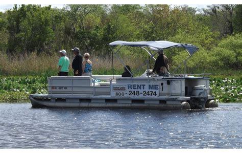 Pontoon Boat Rental Orlando by Pontoon Boat Rental On The St Johns River Near Orlando