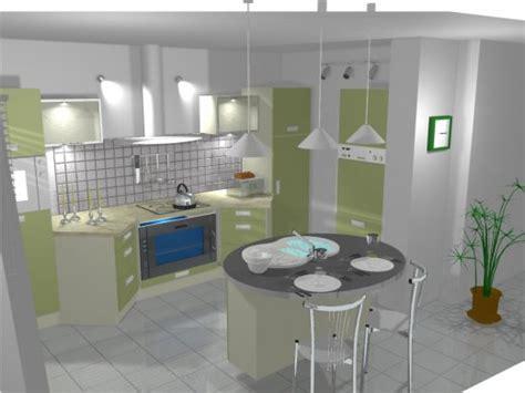 cuisine avec ilot central arrondi ambiance cuisine meubles contarin