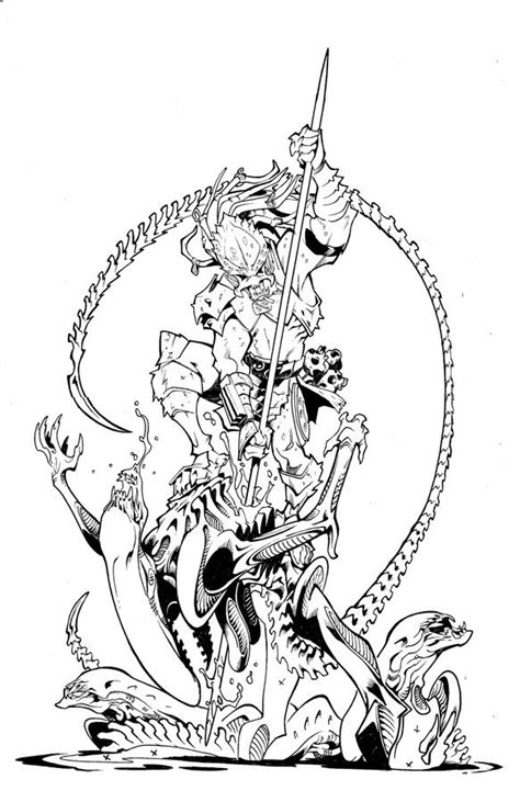 alien  predator coloring pages alphabet coloring pages
