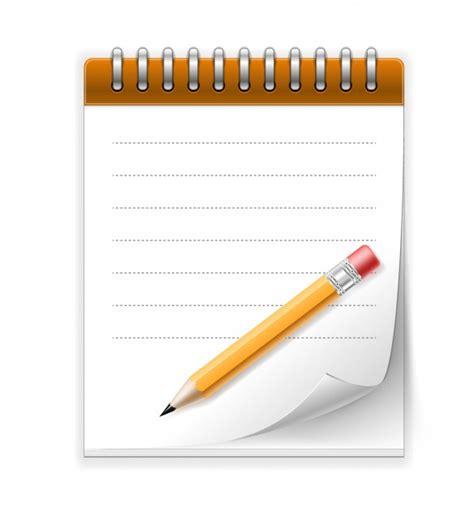 telecharger un bloc note pour le bureau bloc notes et crayon télécharger des vecteurs gratuitement