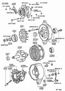 Toyota Tercel Stator Assembly  Alternator