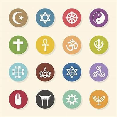 Religion Icons Symbols Religious Circle Symbol Vector