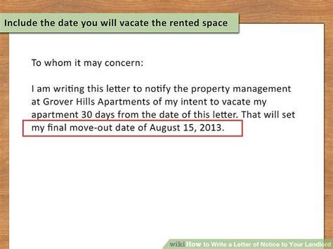 write  letter  notice   landlord  steps