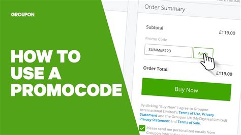 How to Use a Groupon Promocode - YouTube