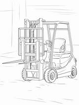 Coloring Forklift Pages Truck Printable Crafts Colouring Parts Trucks Cricut Lift Fork Drawing Lifted Buncher Feller Drawings Log Nature Visit sketch template