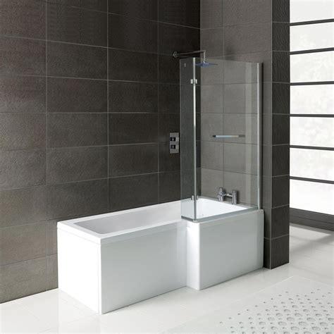 Leda  L Shape Right Hand  Shower Bath  1700 X 850
