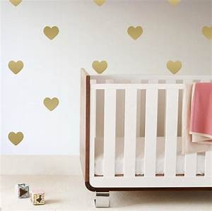 Heart wall decals project nursery for Cute gold heart wall decals