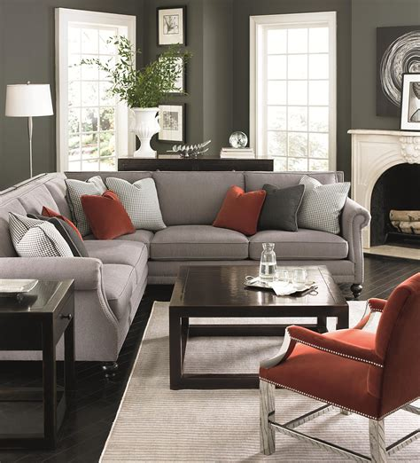 bernhardt brae five seat sectional sofa with transitional
