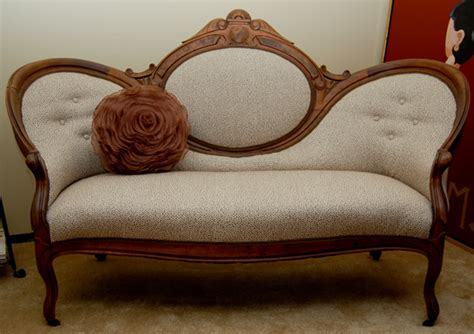 The Reupholstery Of Beth's Antique Settee