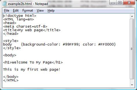 exle 2 html computing and ict