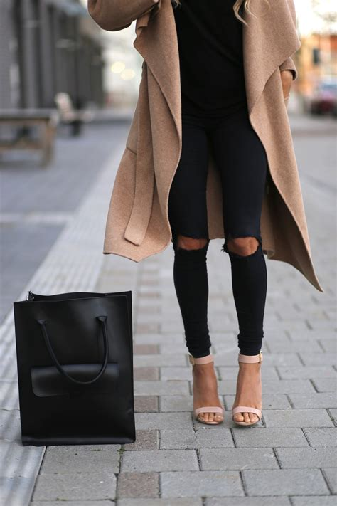 It Is A Must-Have Black Ripped Knee Skinny Jeans - Just The Design