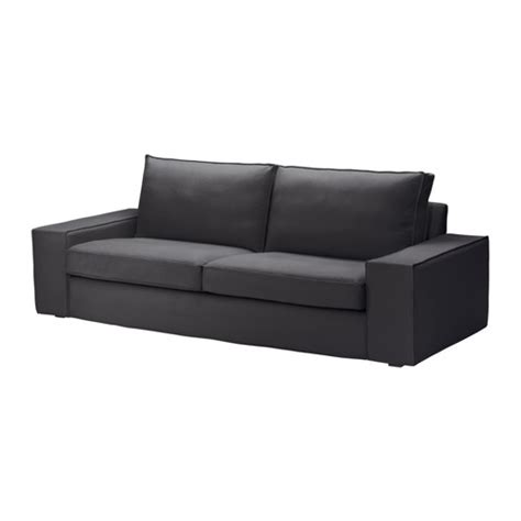 kivik three seat sofa dansbo dark grey ikea