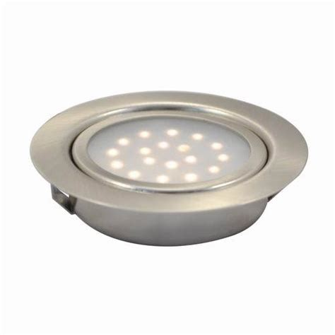 1 25w led recessed swivel cabinet puck light