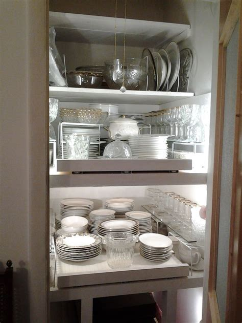 Turning odd shaped closet into a butler's pantry with pull
