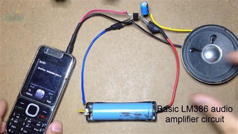 Basic Audio Amplifier Circuit Youtube