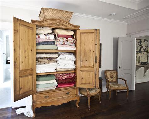 Linen Armoire Storage antique armoire turned linen closet cedar hill farmhouse