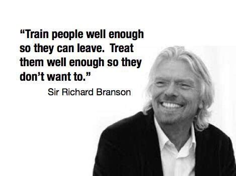 richard branson leadership quote image train people