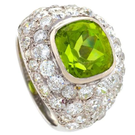 ren 233 boivin deco peridot gold ring for sale at 1stdibs
