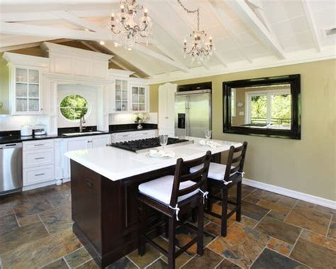 slate floor kitchen slate kitchen floors home design ideas pictures remodel
