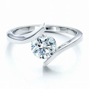 Contemporary tension set solitaire engagement ring 1481 for Tension set wedding rings