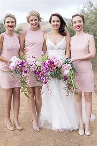 millennial pink bridesmaid dresses southbound bride With millennial pink wedding dress