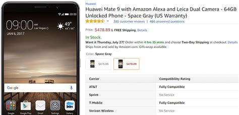 huawei mate 9 now costs less than 500 phonearena