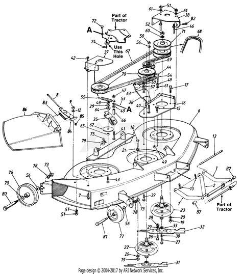mtd mtd gt  mdl   parts diagram  deck
