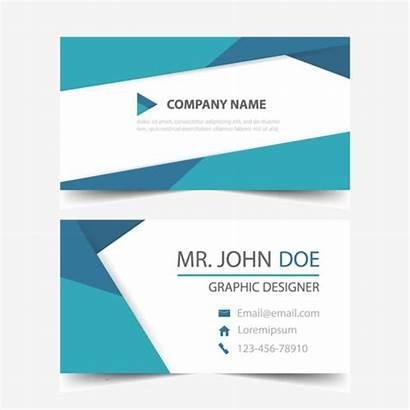 Card Template Header Corporate Simple Triangle Horizontal