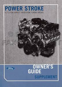 2011 Ford 6 7 Powerstroke Diesel Engine Owners Manual F250