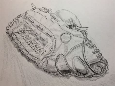 Pencil Sketch Of My Baseball Glove
