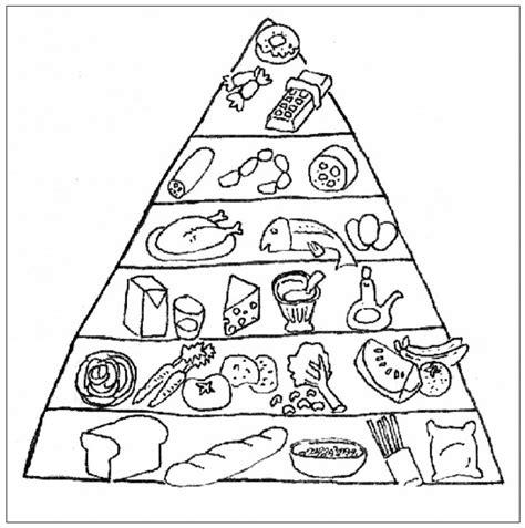 alimenti da colorare piramide alimentare impressionante da colorare pagina 45