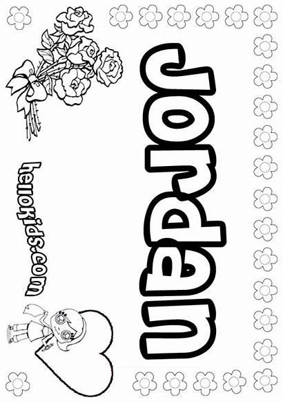 Jordan Coloring Brenda Pages Names Hellokids Sheets