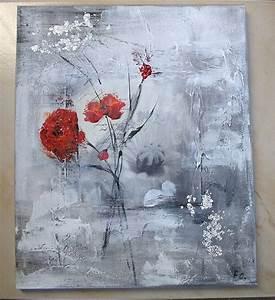 Tableau Peinture Moderne : tableau de peinture moderne fleur ~ Teatrodelosmanantiales.com Idées de Décoration