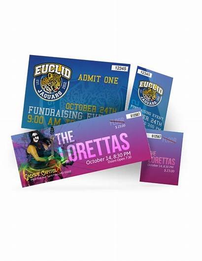 Tickets Event Tear Ticket Printing Cards Perforation