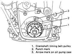 i need a diagram of engine timing marks for a 1 6 solved fixya