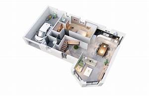 Plan Maison Neuve Mod U00e8le Cr U00e9am U00e9lia Ardoise